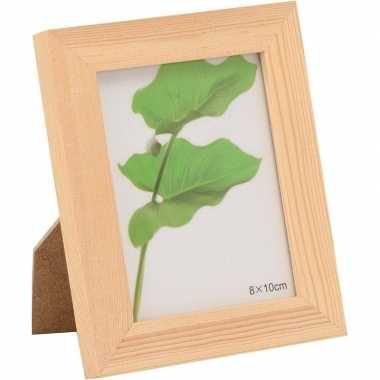 1x hobby/knutsel diy houten fotolijstjes 14 x 17,5 cm