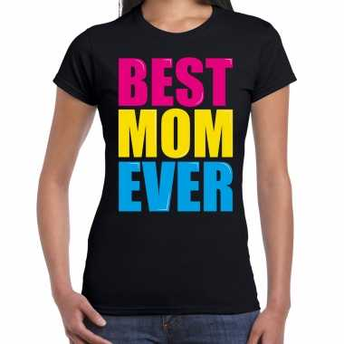 Best mom ever / beste moeder ooit fun t-shirt zwart dames