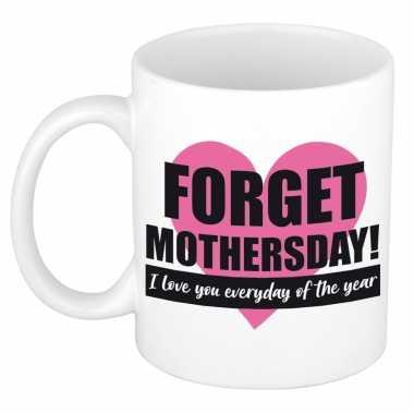 Forget mothers day kado mok / beker voor moederdag / verjaardag