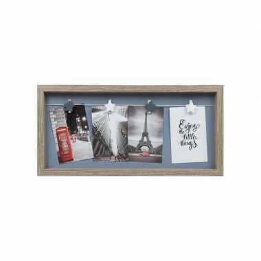 Fotolijst lichtbruin voor 4 foto's 43 x 30 cm