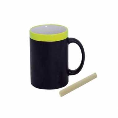 Gele koffie beker met krijt