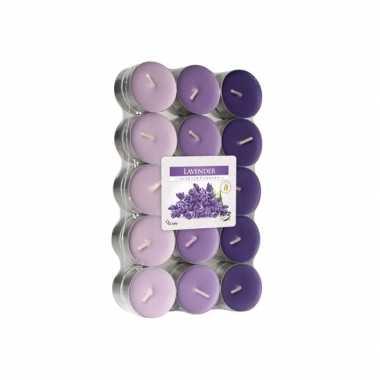 Lavendel geurkaarsen 30 stuks
