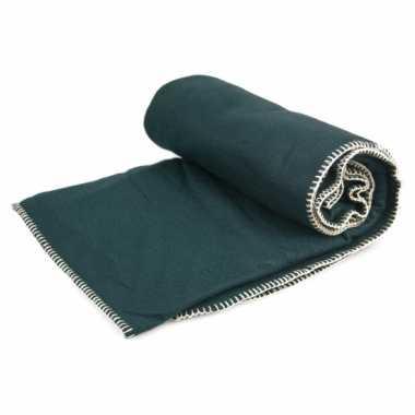 Luxe fleece kleed groen