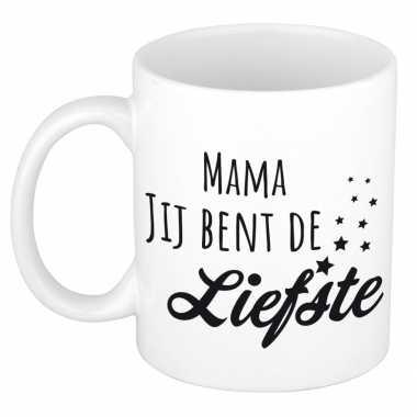 Mama jij bent de liefste kado mok / beker voor moederdag / verjaardag