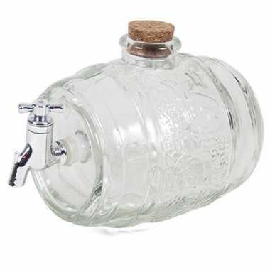 Moederdag cadeau wijntap van glas 2 liter