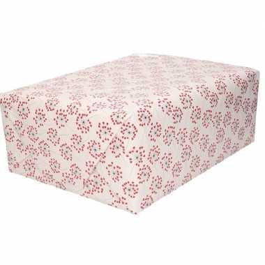 Moederdag inpakpapier/cadeaupapier hartjes print 200 x 70 cm rol