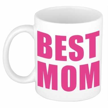 Moederdag mok / beker best mom 300 ml