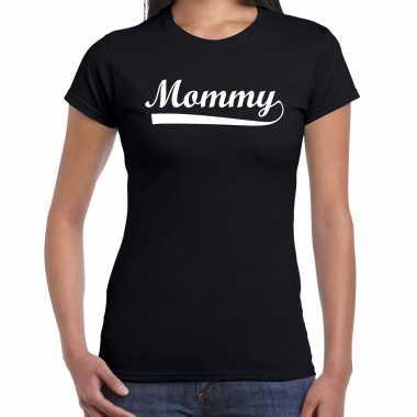 Mommy t-shirt zwart voor dames - moederdag cadeau shirt mama
