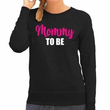 Mommy to be sweater / trui zwart voor dames - cadeau aanstaande moeder/ zwanger