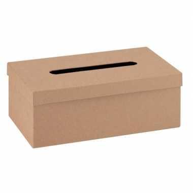 Onbewerkte kartonnen idee box 25 cm