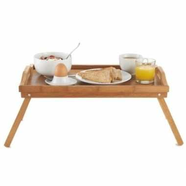 Ontbijt op bed dienblad/tafeltje hout 50 x 30 cm