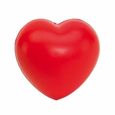 Stressballen rood hartjes vorm 8 x 7 cm