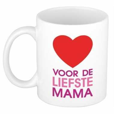 Voor de liefste mama mok / beker voor moederdag 300 ml