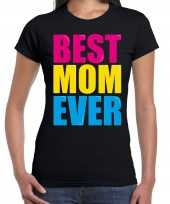 Best mom ever beste moeder ooit fun t shirt zwart dames