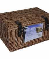 Bruine picknick manden 45 x 30 x 25 cm