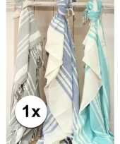 Picknickkleden hamamdoek blauw 200 x 240 cm