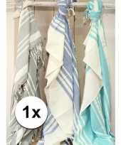 Strandkleed hamamdoek blauw 200 x 240 cm