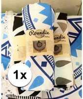 Strandkleed mandala roundie blauw 150 cm