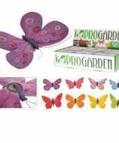 Vlinder tuin hangers in kleuren 9 x 13 cm